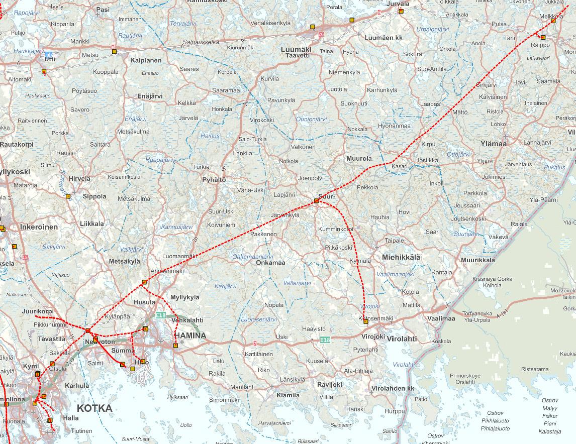 Kaakon Alueverkko kartalla