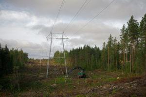 Kuva Hamina-Virojoki 110 kV voimajohdon rakentamisesta 2020
